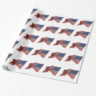 Papier Cadeau Drapeaux des Etats-Unis