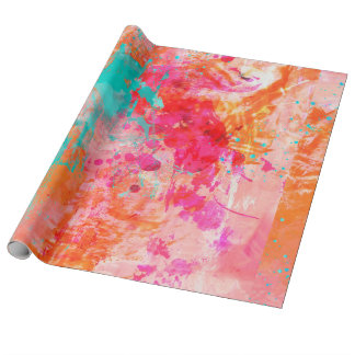 Papier Cadeau Éclaboussure de couleur
