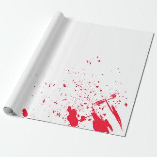 Papier Cadeau Éclaboussure rouge de sang