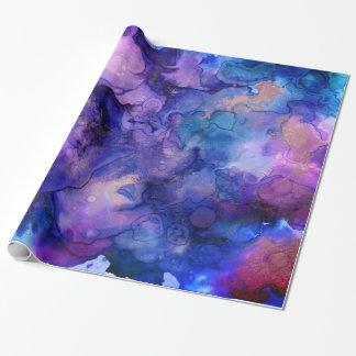 Papier Cadeau Éclaboussures de Bohème colorées d'encre