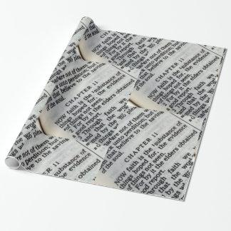Papier Cadeau Écriture sainte de foi de 11:1 d'Hébreux de papier