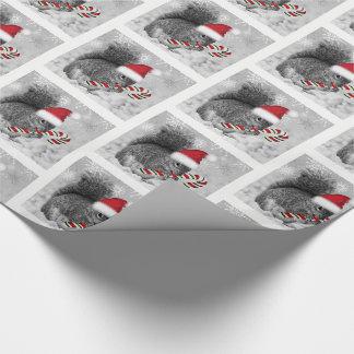 Papier Cadeau Écureuil de région boisée dans le casquette rouge