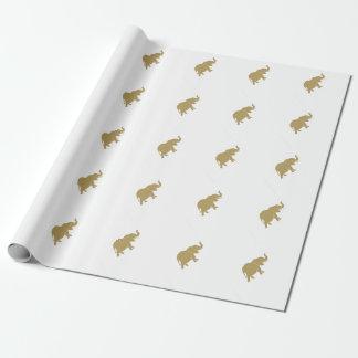 Papier Cadeau Éléphant d'or