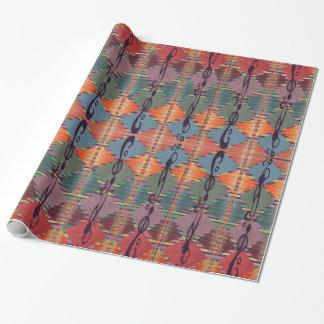 Papier Cadeau Emballage abstrait de couleurs tribales