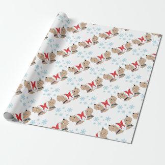 Papier Cadeau Emballage blond comme les blés de Noël de Terrier