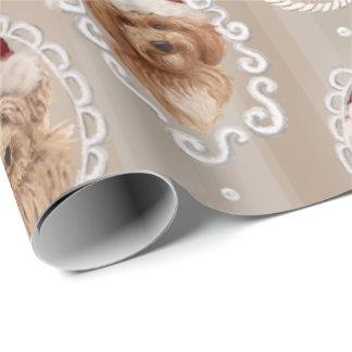Papier Cadeau emballage de Labradoodle de chien de