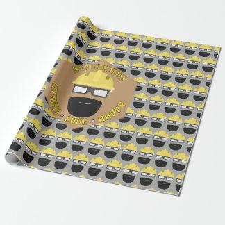 Papier Cadeau Emballage du thème d'ingénieur