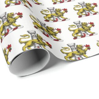 Papier Cadeau Emblème C de Tower Fleur de Lis Crest de lion