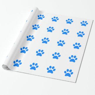 Papier Cadeau Empreinte de patte bleu