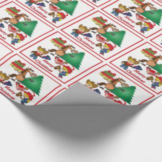 Papier Cadeau Enfants de cowboy et enveloppe de cadeau de bande