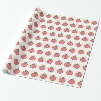 Papier Cadeau Enfants heureux mignons de motif de tomate de