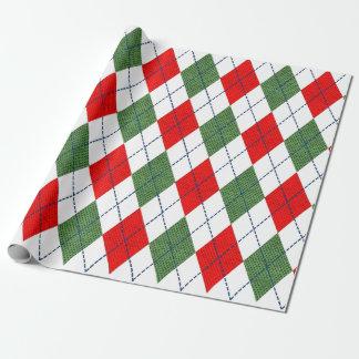 Papier Cadeau Enveloppe de cadeau à motifs de losanges rouge et
