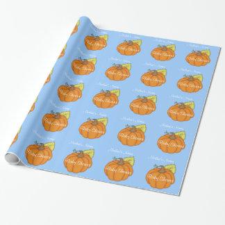 Papier Cadeau Enveloppe de cadeau bleue personnalisée de baby