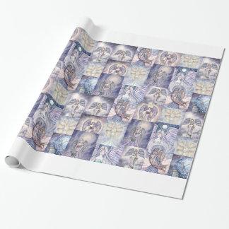Papier Cadeau Enveloppe de cadeau de collage de beaucoup d'anges