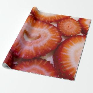 Papier Cadeau Enveloppe de cadeau de fraises