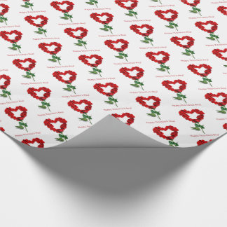Papier Cadeau Enveloppe de cadeau de heureuse Sainte-Valentin de