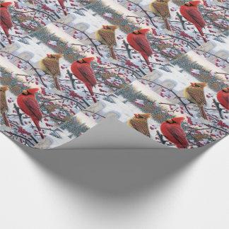 Papier Cadeau Enveloppe de cadeau de Noël/cardinaux