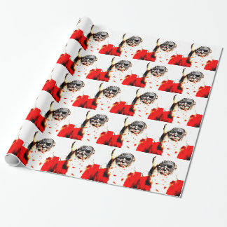 Papier Cadeau Enveloppe de cadeau de Père Noël de zombi