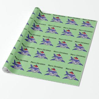 Papier Cadeau Enveloppe de cadeau de sourire de Noël de requin