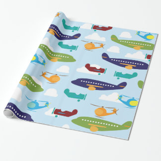Papier Cadeau Enveloppe de cadeau de thème d'aviation d'avion