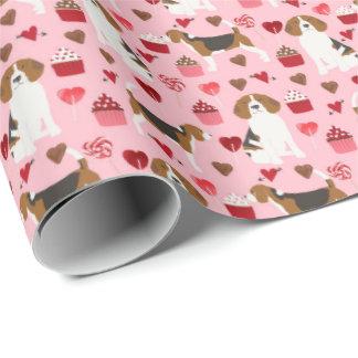 Papier Cadeau Enveloppe de cadeau de Valentines de beagle