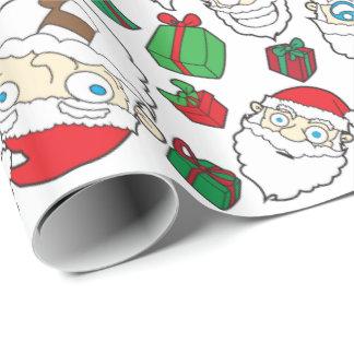 Papier Cadeau Enveloppe de cadeau drôle de Noël du père noël