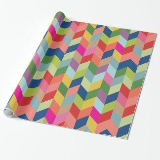 Papier Cadeau Enveloppe de cadeau en arête de poisson colorée