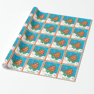 Papier Cadeau Enveloppe de cadeau faite sur commande de tortue