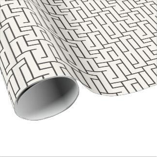 Papier Cadeau Enveloppe de cadeau géométrique noire et blanche