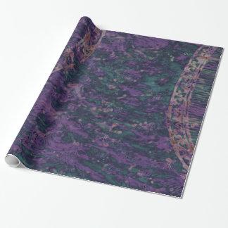 Papier Cadeau Enveloppe de cadeau mauve-foncé abstraite de batik