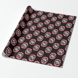 Papier Cadeau Enveloppe de cadeau noire classique chaude de