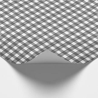 Papier Cadeau Enveloppe de cadeau noire et blanche de plaid de