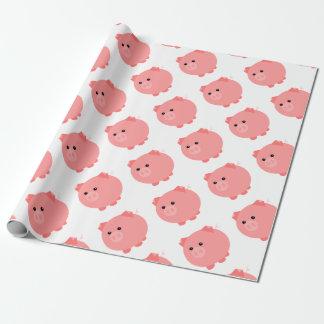 Papier Cadeau Enveloppe de cadeau potelée mignonne de porc