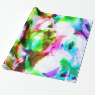 Papier Cadeau Enveloppe de cadeau rêveuse psychédélique
