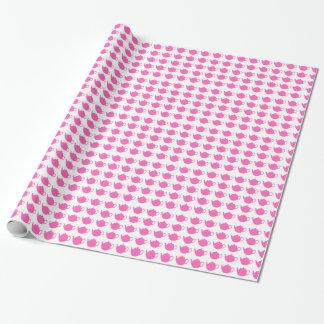 Papier Cadeau Enveloppe de cadeau rose lumineuse de théières