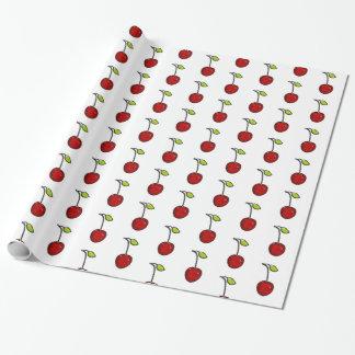Papier Cadeau Enveloppe de cadeau rouge mignonne de cerises