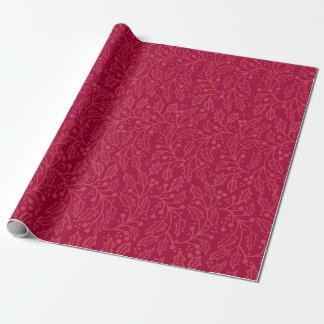 Papier Cadeau Enveloppe de cadeau tonale de griffonnage de houx