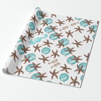Papier Cadeau Enveloppe de cadeau tropicale de Noël de motif de