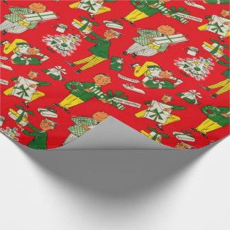 Papier Cadeau enveloppe de cadeau vintage de Noël des années
