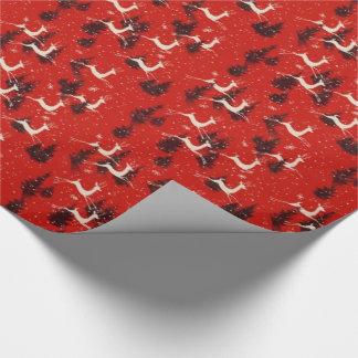 Papier Cadeau enveloppe de cadeau vintage de renne de Noël des