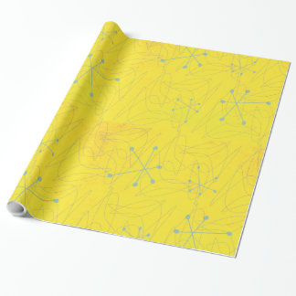 Papier Cadeau Enveloppe de cadeau vintage d'ère atomique des