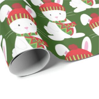 Papier Cadeau Enveloppe de fête de partie de lapin de Noël de