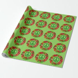 Papier Cadeau enveloppe de guirlande de paix