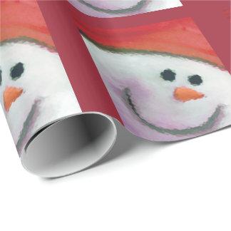Papier Cadeau Enveloppe de Noël d'homme de neige d'enfants