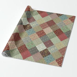 Papier Cadeau Enveloppe de papier d'édredon de patchwork de