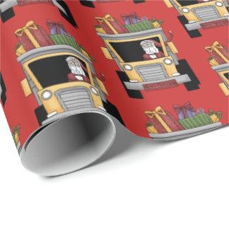 Papier Cadeau Enveloppe de partie de Père Noël de camion à benne