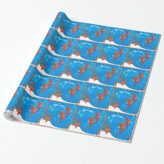 Papier Cadeau Enveloppe faite sur commande d'hippocampe mignon