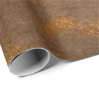 Papier Cadeau Enveloppe marron affligée de rouille de Brown d'or