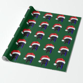 Papier Cadeau Enveloppe spartiate MINCE de Père Noël de drapeau