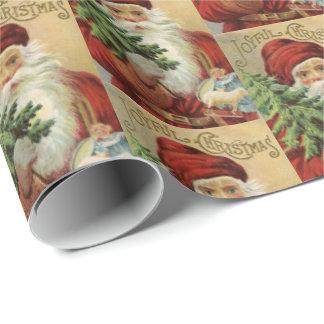 Papier Cadeau Enveloppe vintage de partie de Père Noël de